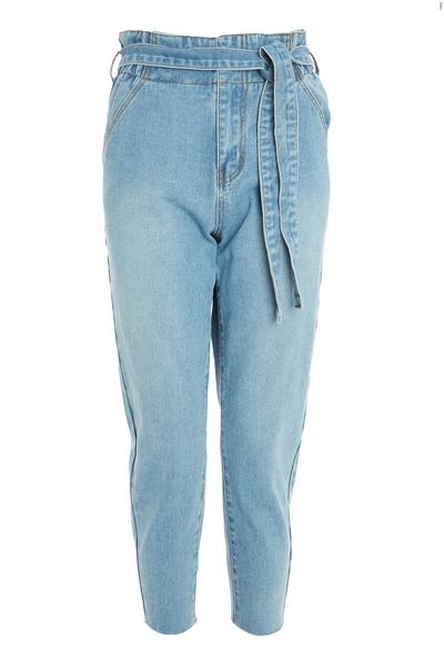Petite Blue Paper Bag Jeans